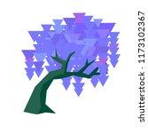 vector geometric wisteria set... | Shutterstock .eps vector #1173102367