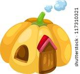 illustration pumpkin house... | Shutterstock .eps vector #117310321