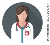 vector medical icon woman... | Shutterstock .eps vector #1173104764
