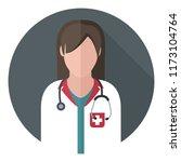vector medical icon woman... | Shutterstock .eps vector #1173104764