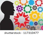 gear pattern background in...   Shutterstock .eps vector #117310477