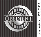obedient silvery shiny badge | Shutterstock .eps vector #1173105457