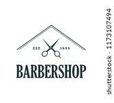 barbershop concept logo design... | Shutterstock .eps vector #1173107494