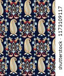 traditional paisley pattern on... | Shutterstock .eps vector #1173109117