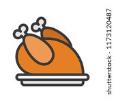 oven roasted turkey  merry... | Shutterstock .eps vector #1173120487