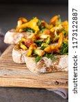 italian bruschetta with... | Shutterstock . vector #1173122887