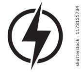lightning  electric power... | Shutterstock .eps vector #1173125734