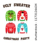 cute banner for ugly sweater... | Shutterstock .eps vector #1173126634