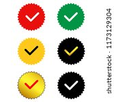 approved sertified mark.quality ... | Shutterstock .eps vector #1173129304