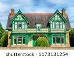 old one family house with...   Shutterstock . vector #1173131254