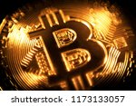 gold coin bitcoin. | Shutterstock . vector #1173133057