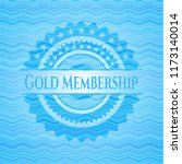 gold membership water wave... | Shutterstock .eps vector #1173140014