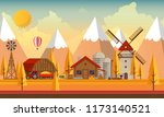 flat illustration of... | Shutterstock .eps vector #1173140521