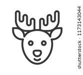 reindeer  merry christmas theme ... | Shutterstock .eps vector #1173143044