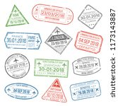 visa travel cachet passport... | Shutterstock . vector #1173143887