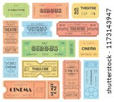 theater or cinema admit one... | Shutterstock . vector #1173143947