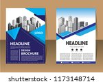 design cover flyer brochure... | Shutterstock .eps vector #1173148714