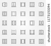 window outline icons set.... | Shutterstock .eps vector #1173153394