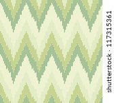 Zigzag Pattern In Green Color....