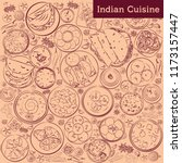 indian cuisine vector... | Shutterstock .eps vector #1173157447