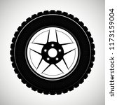 wheels and tires are black. for ... | Shutterstock .eps vector #1173159004