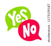 Yes No Word Text On Talk Shape...