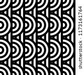 seamless pattern with circles... | Shutterstock .eps vector #1173161764