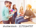 group of smiling students in... | Shutterstock . vector #1173164707