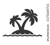 island with palm trees icon on... | Shutterstock .eps vector #1173165721
