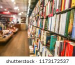 books in a bookstore for sale... | Shutterstock . vector #1173172537