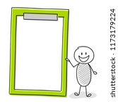 cartoon character holding... | Shutterstock .eps vector #1173179224