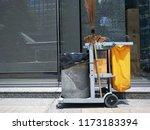 junk cart  junk car  bin on...   Shutterstock . vector #1173183394
