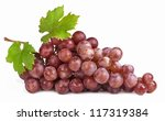 Grape Cluster With Leaves...