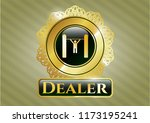 gold shiny emblem with pull up ... | Shutterstock .eps vector #1173195241