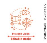 strategic vision concept icon.... | Shutterstock .eps vector #1173195577