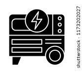 portable power generator glyph... | Shutterstock .eps vector #1173202027