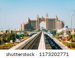 dubai  uae   december 9  2014 ... | Shutterstock . vector #1173202771