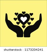 heart vector icon | Shutterstock .eps vector #1173204241