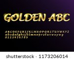 vector glossy sign golden abc.... | Shutterstock .eps vector #1173206014