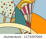 abstract contemporary art with... | Shutterstock .eps vector #1173207004