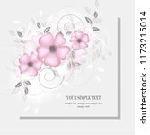 wedding card or invitation with ...   Shutterstock .eps vector #1173215014