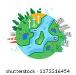 ecologically clean city ... | Shutterstock .eps vector #1173216454