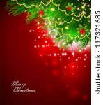 vector illustration of xmas... | Shutterstock .eps vector #117321685