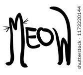 black and white word meow like... | Shutterstock .eps vector #1173220144