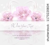 wedding card or invitation with ...   Shutterstock .eps vector #1173220834