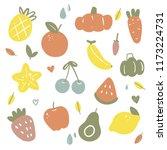 fruit vector collection design | Shutterstock .eps vector #1173224731