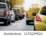 cars on the road heading... | Shutterstock . vector #1173229924