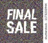 final sale glitch text.... | Shutterstock .eps vector #1173233944