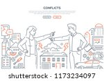conflicts   line design style... | Shutterstock .eps vector #1173234097