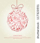 vector illustration of xmas... | Shutterstock .eps vector #117323551